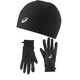 asics Basic Performance Pack Gloves and Beanie Performance Black